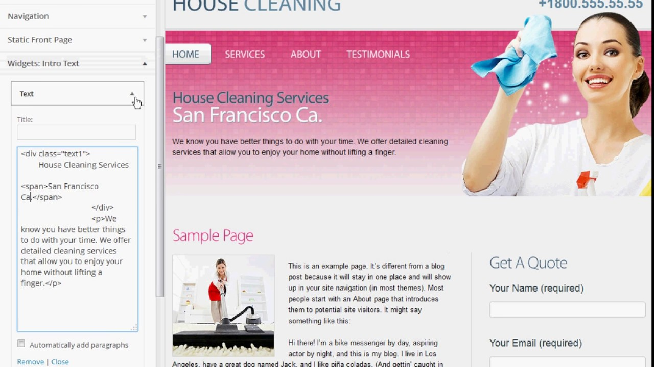 house cleaning wordpress theme for maid service house cleaning wordpress theme for maid service