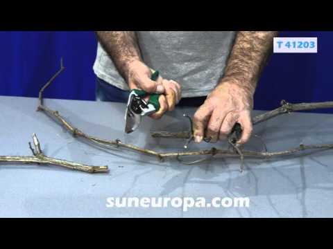 Ергономична Лозарска ножица 200mm / Troy 41203 / видео