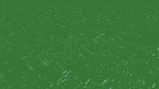 raindrops on water effect - green screen effect