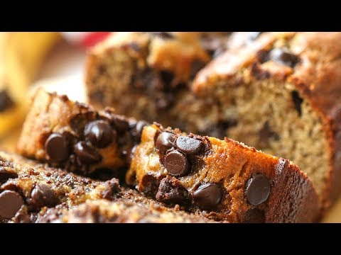 Easy Chocolate Chip Banana Bread Recipe | Healthy Recipes | Healthy Breakfast Ideas