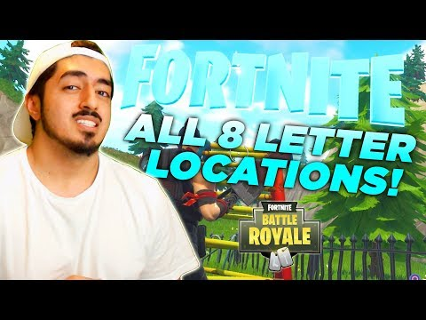 WHERE TO FIND ALL 8 LETTERS In Fortnite Battle Royale! (Season 4 Battle Pass Challenge)