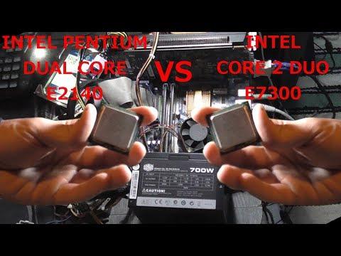INTEL P Dual Core E2140 vs Core 2 Duo E7300 | Skyrim, Tomb Raider 2013