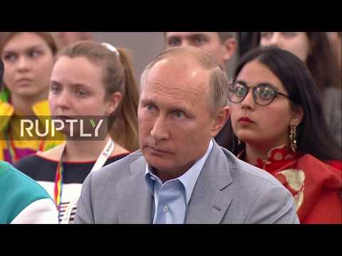 LIVE: Putin holds open discussion with Youth Festival participants