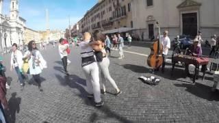 Sergii and Anastasia Piazza Navona dance
