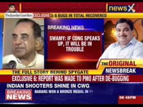 Subramaniam Swamy hits out at congress on bugging issue