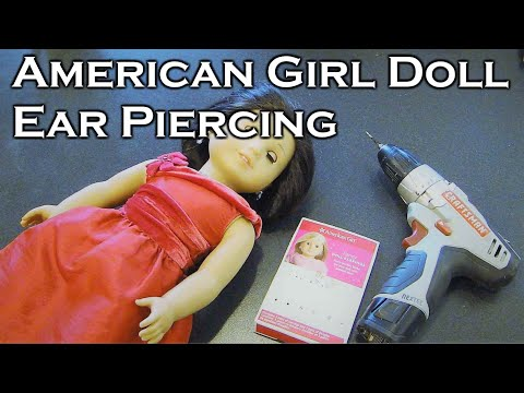 How To Ear Pierce AG American Girl Doll