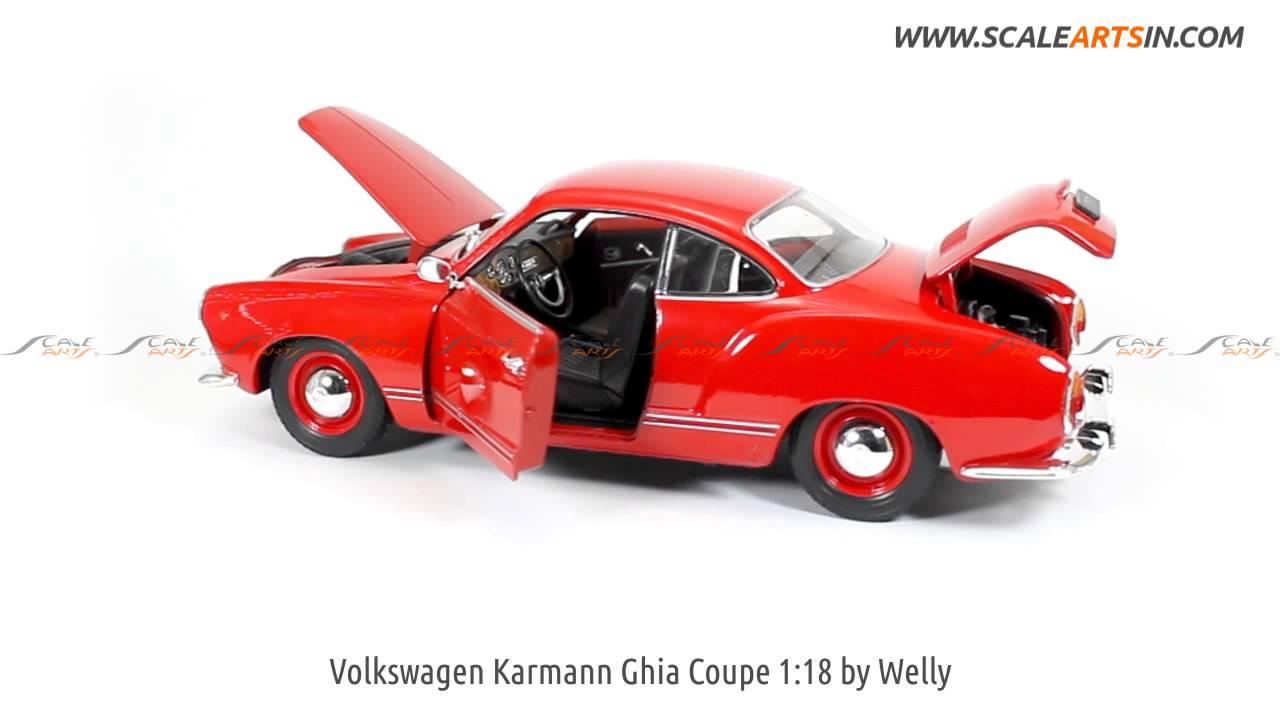 Karmann Ghia Coupé Sammlermodell ca 1:34 12,7cm rot Neuware von WELLY