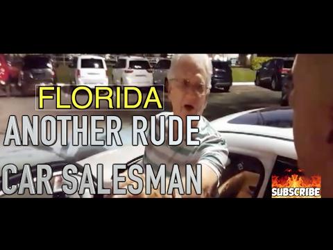 Rude Car Salesman 2 Florida Man Hits Salesman With Golf Club Youtube