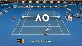 Tennis Elbow 2013 GAMEPLAY - AO 2018 - Andy Roddick vs Rafael Nadal - Throwback