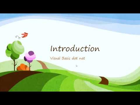 Visual Basic -  Introduction to  Programming language in hindi
