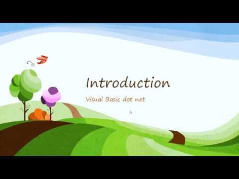 Visual Basic -  Introduction to  Programming language in hindi