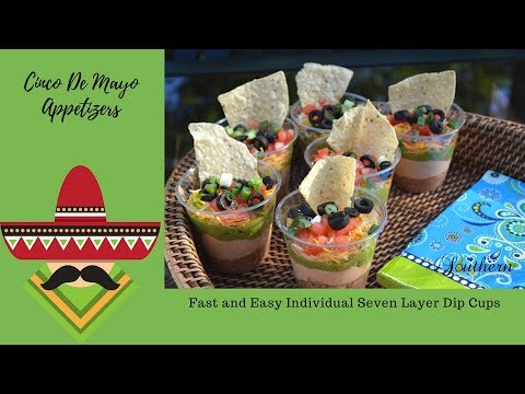Quick And Easy Recipes|Cinco De Mayo|Mexican Theme| Seven Layer Dip Appetizer