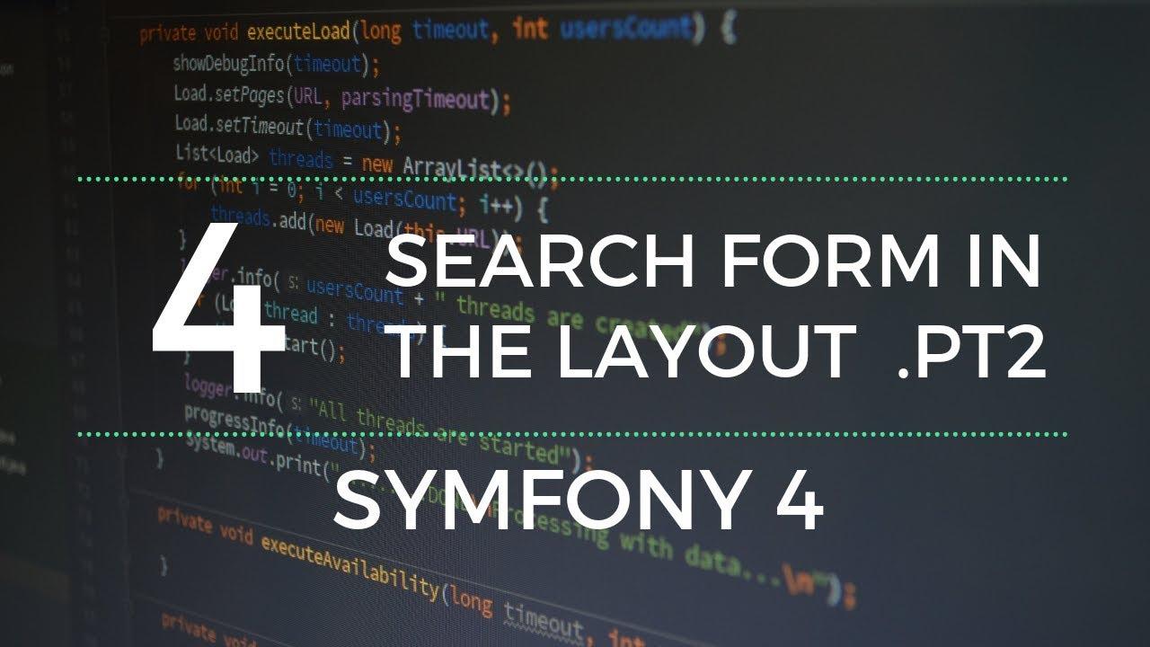 Symfony tutorial: Layout's search form ( Pt2 )