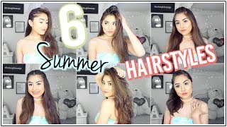 6 Easy Summer Hairstyles + How to Curl your Hair with a Straightener ft. ghd