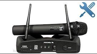 Disassembly simsiz mikrofon ta'mirlash/Proel WM6M