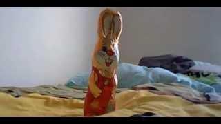 chocolate easter bunny fork-smash