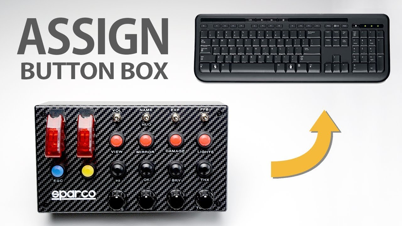 HOW TO ASSIGN BUTTON BOX TO KEYBOARD FUNCTIONS