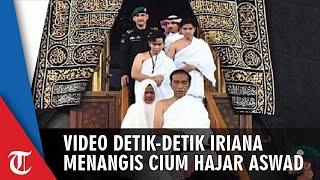 Video Detik-detik saat Iriana Menangis setelah Cium Hajar Aswad hingga Dipeluk Jokowi