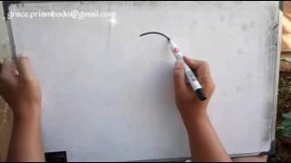 How to draw cat in simple way / cara menggambar kucing dengan cara sederhana
