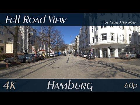 Hamburg, Germany: Rotherbaum - Mittelweg - 4K (UHD/2160p/60p) - Autofahrt - Car Ride Video