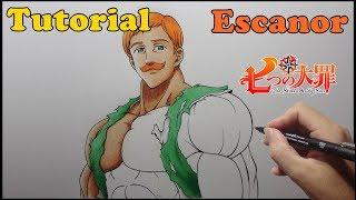 Como Desenhar Escanor Nanatsu no Taizai - How to Draw Escanor