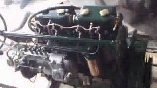 Kelvin P4R marine diesel engine first run