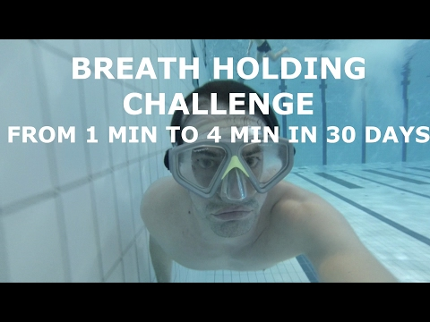 30 day breath hold challenge day1 - Hold your breath longer