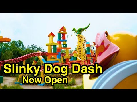 [NEW] Slinky Dog Dash - Rollercoaster At Toy Story Land