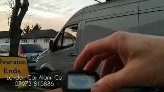 Mercedes Sprinter Van Security Upgrade | Prestige X2 Silver | London Car Alarm Co
