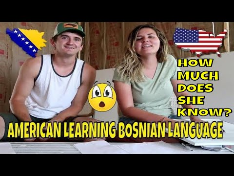 Teaching American Wife Bosnian Language