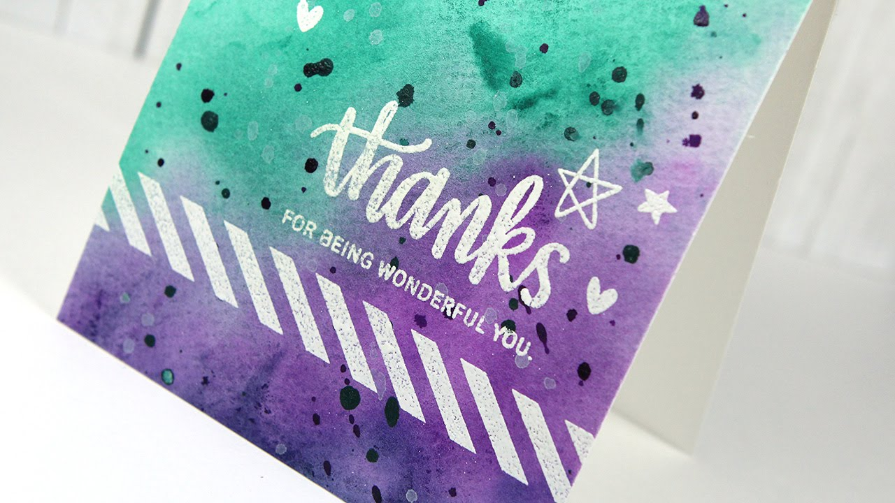 Watercolor Background – Make A Card Monday #265 YouTube