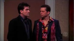 Two and a Half Men - Charlie & Alan as Gay Couple [HD]