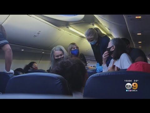 EMT soaked in 'sweat and urine' on flight from performing CPR on possible COVID passenger who died after emergency landing