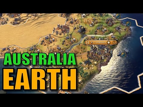 Civ 6: Australia Gameplay [True Start Earth Map] Let's Play Civilization 6 as Australia | Part 8