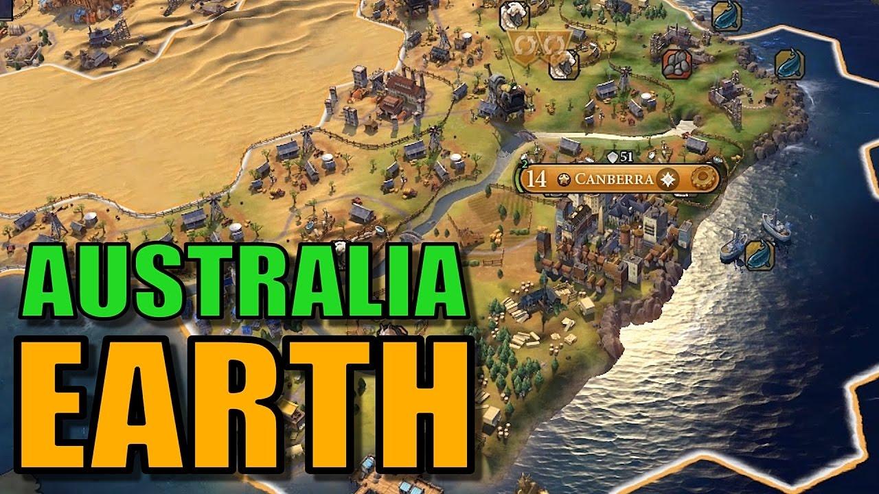 civ 6 australia gameplay true start earth map lets play civilization 6 as australia part 8