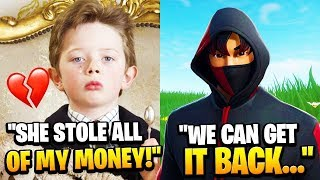 RICH KID Got ROBBED By His CRUSH, So I Helped Him Out... (Fortnite)