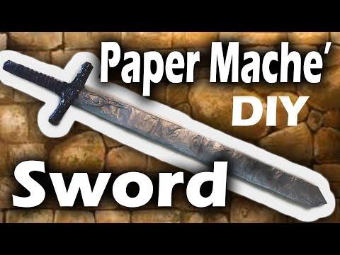 Paper Mache Sword DIY