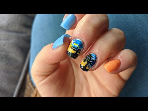 Landscape Speed Painting on nails