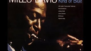 Miles Davis - Kind of Blue - 1959 (Complete Album)(http://youtu.be/kbxtYqA6ypM Discography (with links to each song's starting point): 1. So What - 00m00s 2. Freddie Freeloader - 9m26s 3. Blue in Green ..., 2013-10-20T14:19:26.000Z)