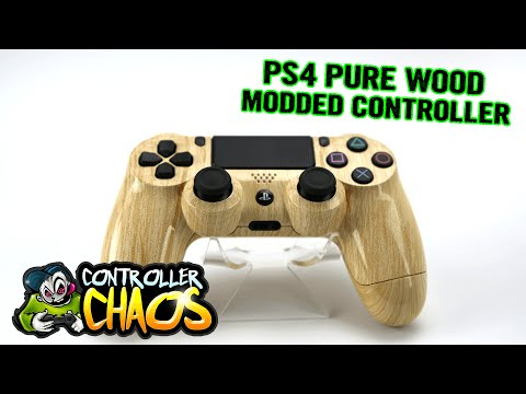 PS4 Pure Wood - Custom Controller - Controller Chaos