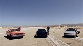 DeLorean vs KITT vs General Lee - Hollywood Cars - Top Gear USA - Series 2