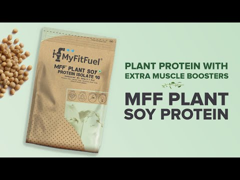 MyFitFuel Plant Soy Protein | High Refined Fat Free Soy Protein | 100% Natural Soy Protein