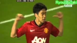 8/12 マンU 香川真司、決勝ゴール! ハノーファー96戦 Shinji Kagawa Goal thumbnail