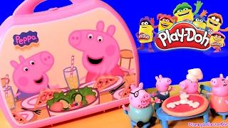 Massinhas de Pizza Play Doh Pizzaria Peppa Pig Toys BR | Pizzeria Carry Case | Maletín Pizzería