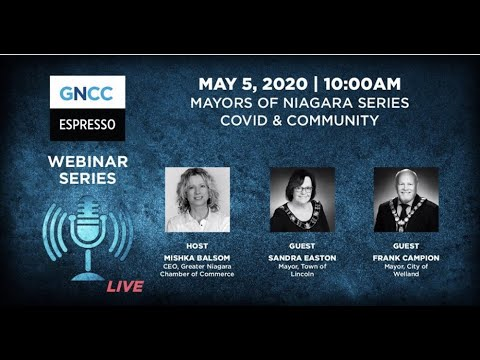 Espresso Live May 4: Mayors of Niagara Series with Mayors Sandra Easton & Frank Campion