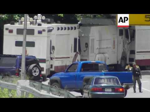 Troops at checkpoints across Venezuela capital
