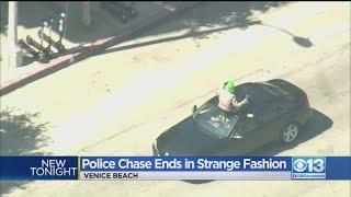 Police Chase Ends In Strange Fashion