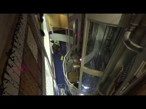 "Night video! ""Dan Elevator"" (mod. by: LiftCom) Hydraulic elevators @ M/S Viking Cinderella."