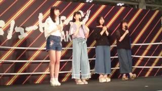 2017年6月25日に開催された「シュートサイン」発売記念大握手会でのステ...