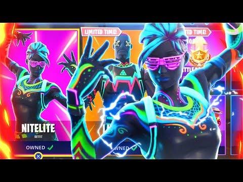 New LITESHOW + NITELITE Skins Victory Royale! New Fortnite Skins Update! (Fortnite Battle Royale)